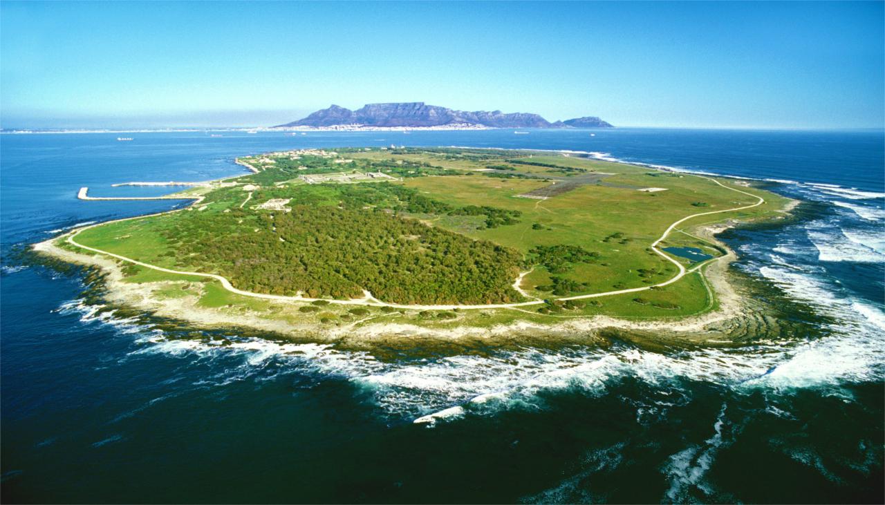 Visite du musée Robben Island au large du Cap