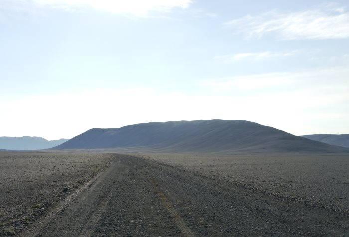 Piste de l'Askja : désert de cendre noir