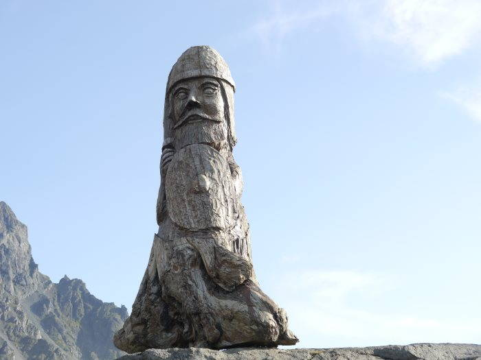 Vestrahorn monument Viking