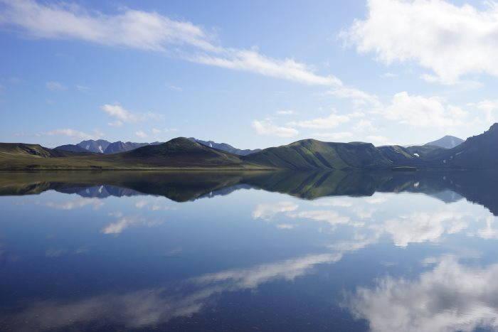 Lac dans la région Landmannalaugar